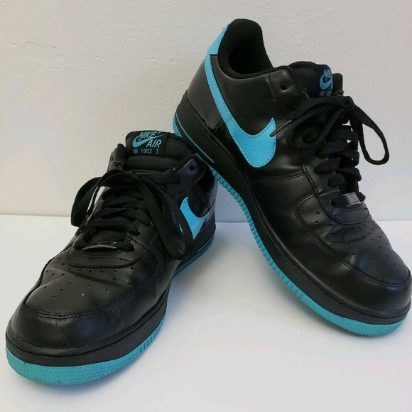 le dernier 84f0c 1d287 Nike Air Force 1 Low Black Chlorine Blue AF-1 '82